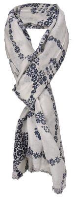 b9118129725d5c ... Damen Schal schwarz weiß mit Totenkopf Motiv und kl. Fransen - Gr. 180  x, Schal mit Totenkopf Muster Skull Scarf Leichtes Halstuch ...