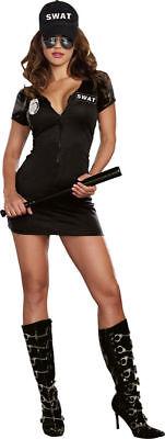 Morris Costumes Women's Polyester Hot Black Swat Police Costume 2Xl. RLA9981XX - Halloween Costumes Swat