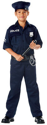 Police Officer Cop Crime Fighter SWAT Child Costume
