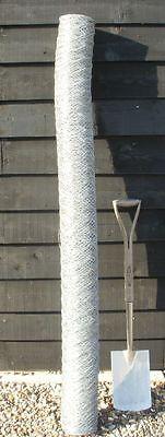 50m roll 1.8m (6ft) tall roll of galvanised chicken hexagonal wire garden mesh