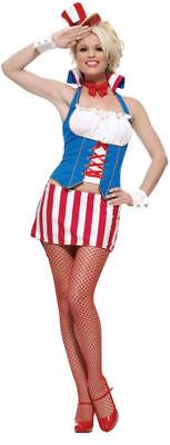 Morris Costumes Womens' Sexy Patriotic Miss Firecracker, Size XS. UA83405XS](Firecracker Costume)