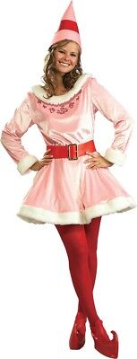 Deluxe Jovi Adult Womens Costume Standard Size NEW Buddy the Elf - Womens Elf Costume