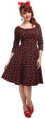 SMALL CHERRIES Kirschen Swing Dress Kleid Rockabilly (Willow Kleider)