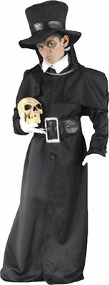 Morris Costumes Grave Digger Cloak And Capelet With Chain Clasp Child. FW5915LG