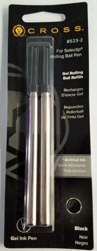 12 CROSS SELECTIP Rollerball Pen REFILLS BLACK Medium point #8523-2 New