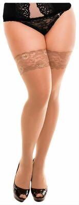 Beige Opaque Strümpfe (Glamory Womens Micro 60 Denier Opaque Stockings - Make Up Beige)
