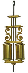 New Double Barrel Solid Brass Pendulum for Antique Mantle/Kitchen Clocks (PM-20)