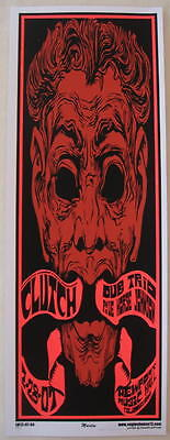 2007 Clutch w/ Dub Trio - Columbus Silkscreen Concert Poster s/n by Mike Martin