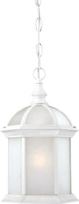 Nuvo Lighting 60/4997 Boxwood White Energy Saving One Light Hanging Lantern Energy Saving Outdoor Pendant
