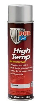 Por 15 44318 High Temp Aerosol Header Manifold Paint 15 Oz  Spray Can Aluminum