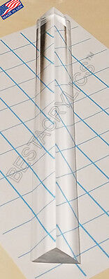 1 Pc 1 X 1 X 1 12 Clear Acrylic Triangle Rod 12 Long Plexiglass Lucite