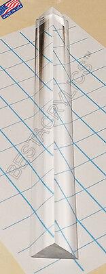 1 Pc 34 X 34 X 1 Clear Acrylic Triangle Rod 24 Inch Long Plexiglass Lucite