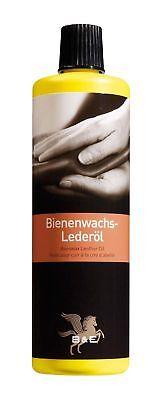 B & E Bienenwachs Lederpflegeöl - 500ml - Lederpflege Pflegemittel Lederöl Leder