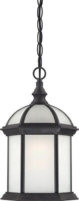Nuvo Lighting 60/4999 Boxwood Black Energy Saving One Light Hanging Lantern Black Fluorescent Outdoor Hanging