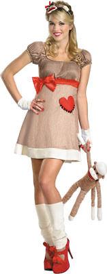 Morris Costumes Women's Short Sleeve Sock Monkey Deluxe Costume 12-14. DG38188E (Halloween Costumes Sock Monkey)