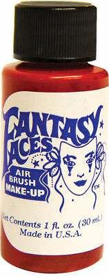 Morris Costumes Water Base Resistant Makeup Red 1OZ Air Brush. FP08 - Halloween Airbrush Makeup