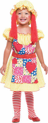 Morris Costumes Toddlers Storybook Raggedy Ann And Andy Dress 3T-4T. PM769698 (Raggedy Andy Costume Toddler)
