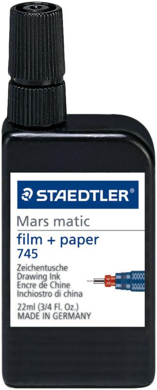 Staedtler Mars Matic Drawing Ink For Film & Paper - Black (22ml)