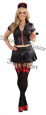 Adult Naughty Nurse Costume Ladies Fancy Dress Outfit FREE STOCKINGS & POST (BR)](Naughty Adult Outfits)