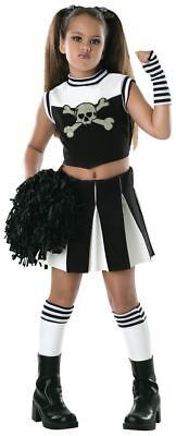 Rubies Bad Spirit Cheerleader Goth Black Child Girls Halloween Costume 882026 - Goth Girl Halloween Costumes