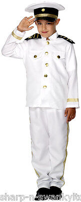 Boys Sailor Captain Navy Military Pilot Uniform Fancy - Navy Piloten Uniform Kostüm