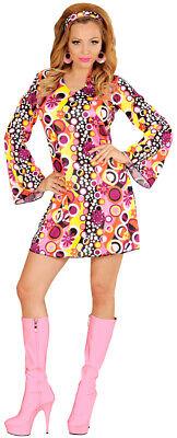 Flower Power Pinkie Girl Kostüm NEU - Damen Karneval Fasching Verkleidung Kostüm