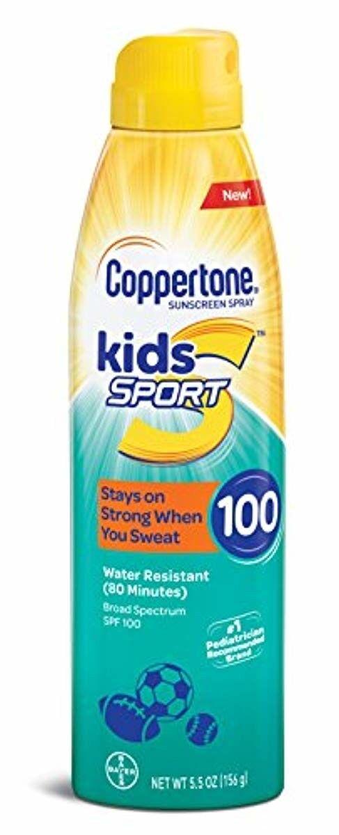 Coppertone SPORT KIDS Sunscreen Continuous Spray SPF 100  Ne