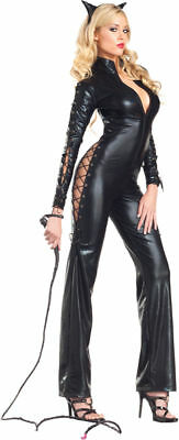 Morris Costumes New Women's Catsuit Kitty Cat Costume Black S/M. CK1212SD - Halloween Costumes Kitty Cat