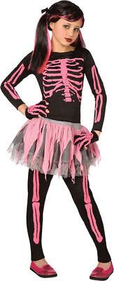 Morris Costumes Girls Classic Halloween Skeletons Black Pink 4-6. LF3146CSM - Classic Halloween Costumes For Girls