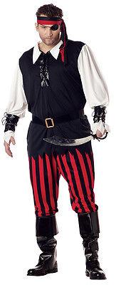 Mens Plus Size Pirate Costume ( Cutthroat Pirate Buccaneer Adult Plus Size)