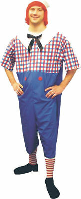 Morris Costumes Men's Raggedy Andy Complete Costume Plus Size. 12121](Plus Size Men Halloween Costumes)