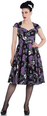 Hell Bunny GRACIELA Skeleton SUGAR SKULL Floral SWING DRESS Kleid Rockabilly
