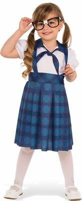 Kids Nerd Costume Halloween Dweeb Dork Black Glasses Plaid Toddler Child Girls](Nerd Costumes For Girls)