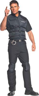 Morris Costumes Men's Cops & Convicts Swat Adult Standard Costume. UR29316