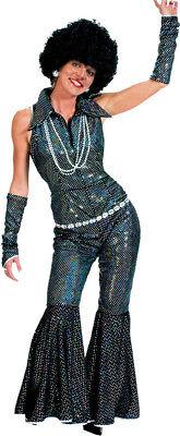 Morris Costumes Women's Retro 1970s Boogie Zipper Stretch Costume L. FF751888