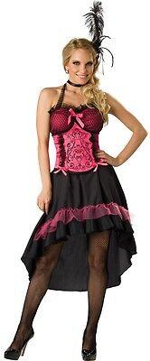 Damen Sexy Pink Wilder Westen Burleske Saloon Girl Verkleidung Kostüm Outfit