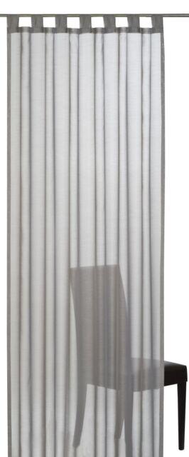 Schlaufenschal Elbersdrucke Batist Uni 07 halbtransparenter Vorhang grau