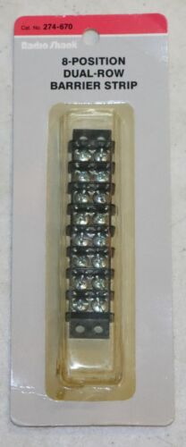 Radio Shack 274-670 8 Position Dual Row Barrier Strip