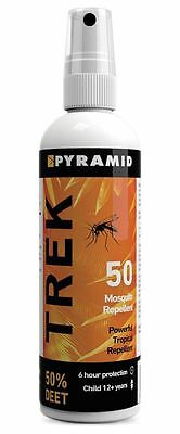 Pyramid Trek 50 (formerly Repel 55) Insect/Mosquito Repellent DEET Spray - 120ml