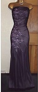 Beautiful Jane Norman long Dress    ❤️Ball Gown Purple Prom Dress Size 8