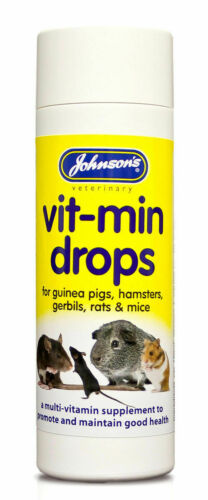 Johnsons VitMin MultiVitamins Supplement Guinea Pigs Hamsters Gerbils Rats Mice