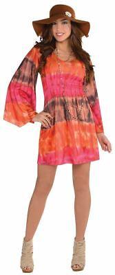 1960s 1970s Disco Diva Hippy Hippie Costume Womens Fancy Dress Ladies - 1960 Disco Kostüm