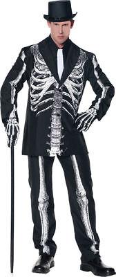 Morris Costumes Adult Men's Skeleton Startlingly Striking Suit 2XL. UR28390XXL - Skeleton Costumes For Men