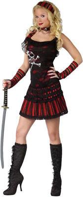 Morris Costumes Women's Classic Halloween Rocker Skull Pirate M/L. FW110564ML (Skull Halloween Costumes For Women)