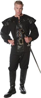 Morris Costumes Men's Renaissance Defender Complete Outfit Black 2XL. UR28992XXL - Renaissance Outfits For Men