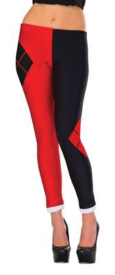 Harley Quinn 2 Tone Womens Diamond Jester Leggings Stockings