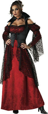 Morris Costumes Adult Women's Classic Halloween Vampire Gown Outfit M. IC3003MD (Female Vampire Outfit)