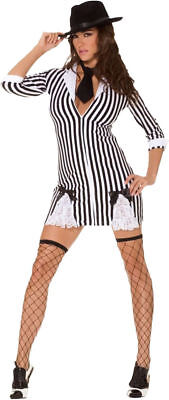 Morris Costumes Women's Sexy Flapper/Gangster Dress Black White,L. MO9625LG](Flapper Gangster Costumes)