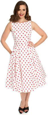 Hearts & Roses CINDY Polka Dot PUNKTE Vintage Swing KLEID Plus Size Rockabilly