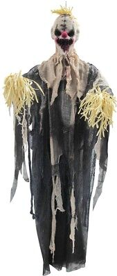 Hanging Scarecrow Scary Evil Clown Halloween Prop Decoration NEW